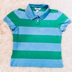 Lilly Pulitzer Striped Polo Shirt Girls L